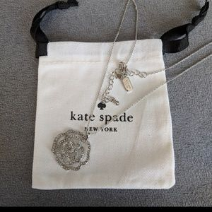 *NEW* ♠️ Kate Spade rohdium rose necklace